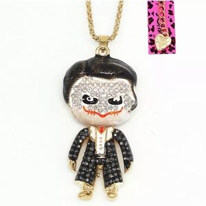 Joker Necklace by, Betsey Johnson
